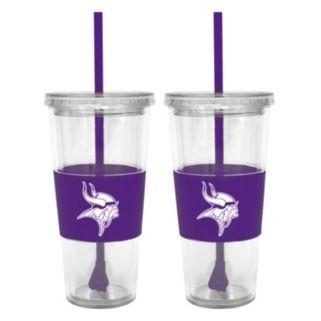 Minnesota Vikings 2-pc. Double-Walled Straw Tumbler Set