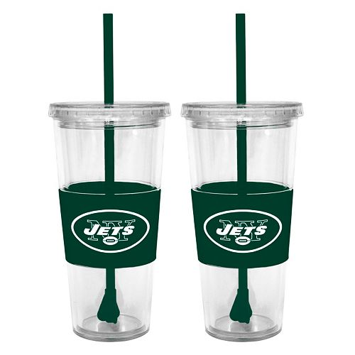 New York Jets 2-pc. Double-Walled Straw Tumbler Set