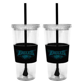 Philadelphia Eagles 2-pc. Double-Walled Straw Tumbler Set