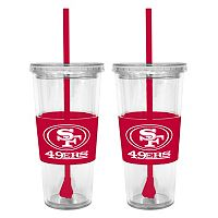 San Francisco 49ers 2-pc. Double-Walled Straw Tumbler Set