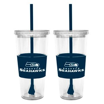 Seattle Seahawks 2-pc. Double-Walled Straw Tumbler Set