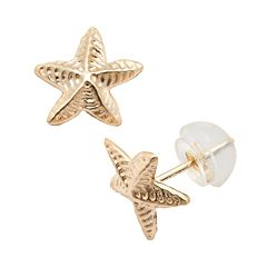 Junior Jewels 14k Gold Starfish Stud Earrings - Kids