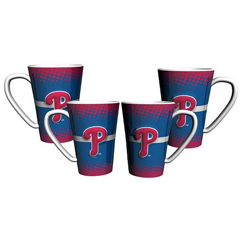 Philadelphia Phillies 4-Pack Ceramic Latte Mug Set