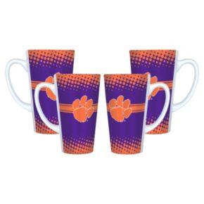 Clemson Tigers 4-pc. Latte Mug Set