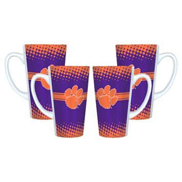 Clemson Tigers 4-pc. Latte Mug Set