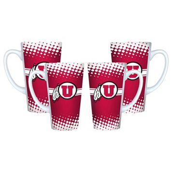 Utah Utes 4-pc. Latte Mug Set