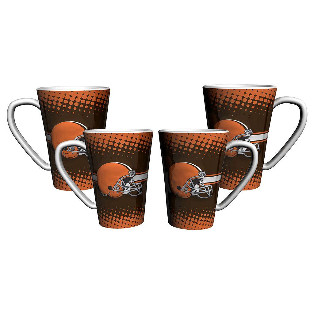 Cleveland Browns 4-pc. Latte Mug Set
