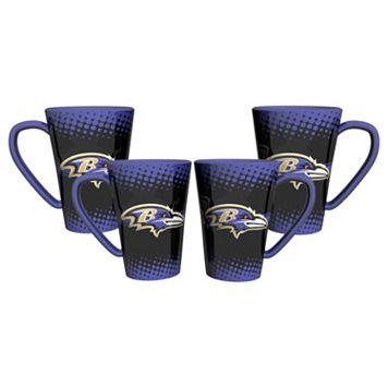 Baltimore Ravens 4-pc. Latte Mug Set