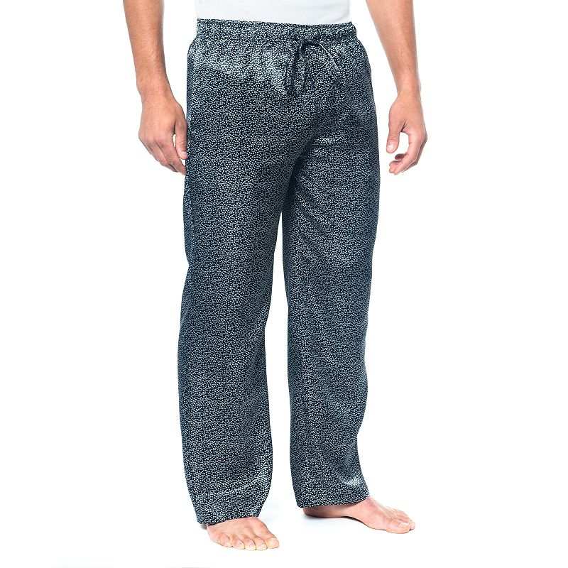 Residence Razzle Dazzle Satin Easy-Care Lounge Pants - Big and Tall