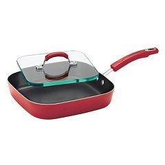 Rachael Ray 11-in. Nonstick Deep Square Griddle & Glass Press