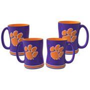 Clemson Tigers 4 pkSculpted Relief Mug