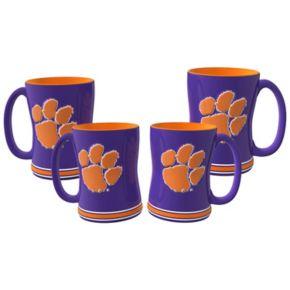 Clemson Tigers 4-pk. Sculpted Relief Mug