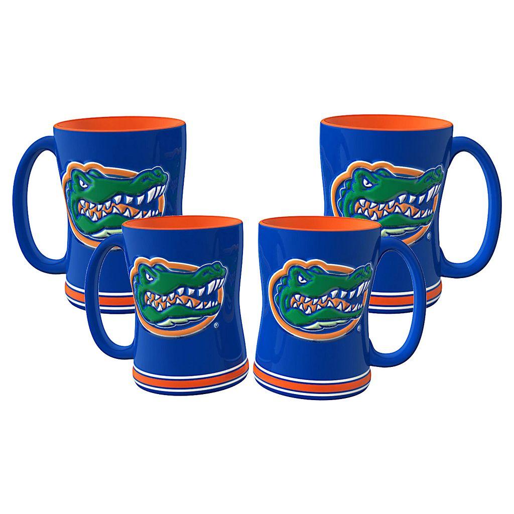 Florida Gators 4-pk. Sculpted Relief Mug