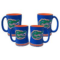 Florida Gators 4 pkSculpted Relief Mug