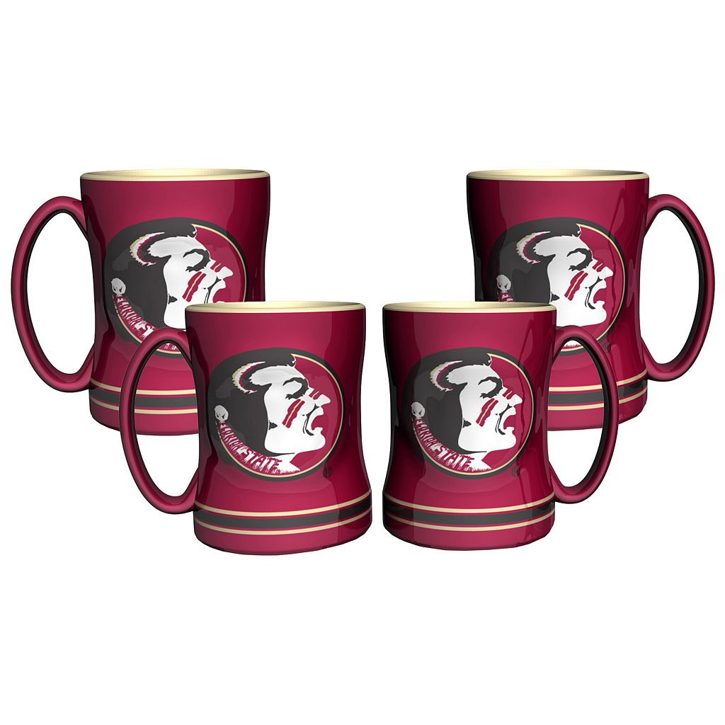 Florida State Seminoles 4-pk. Sculpted Relief Mug