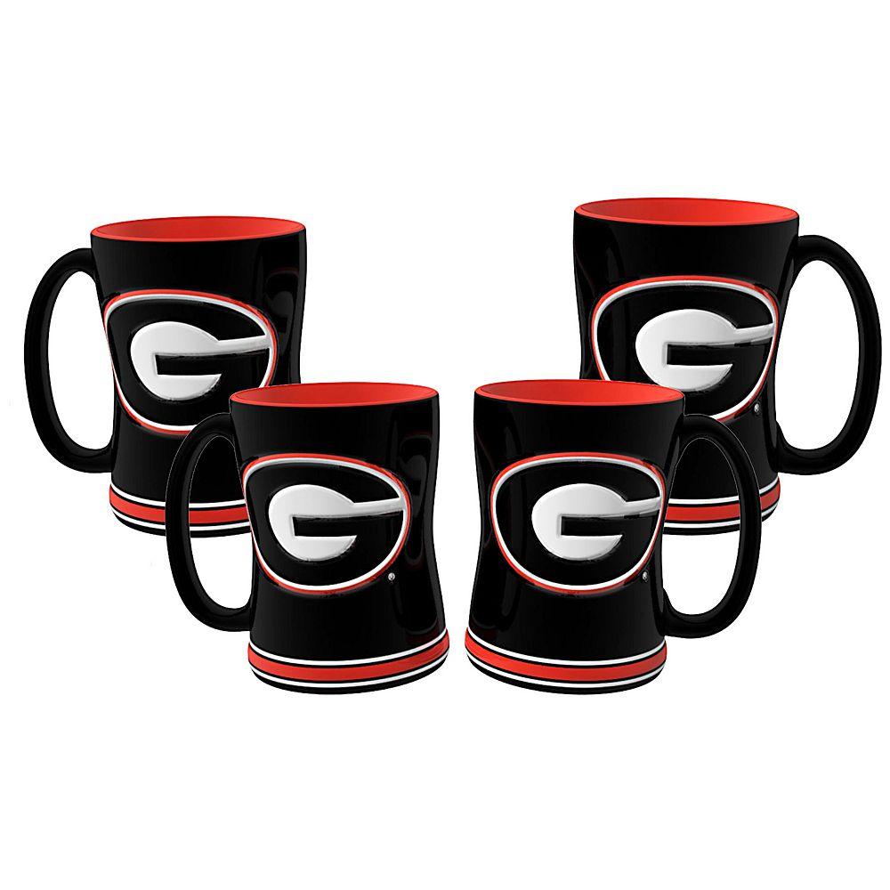 Georgia Bulldogs 4-pk. Sculpted Relief Mug