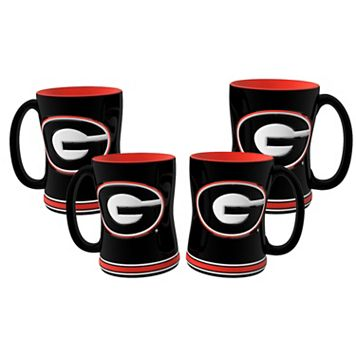 Georgia Bulldogs 4-pk. Sculpted Relief Mug
