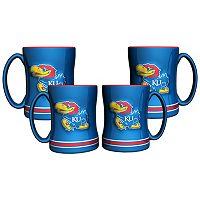 Kansas Jayhawks 4-pk. Sculpted Relief Mug