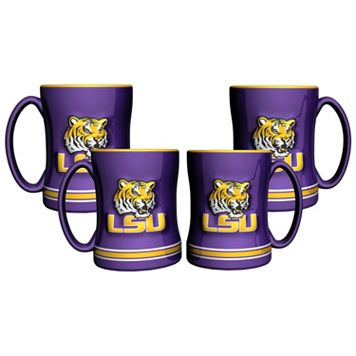LSU Tigers 4-pk. Sculpted Relief Mug