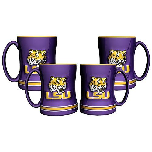 Mug Lsu Relief PkSculpted Tigers 4 edxBCo