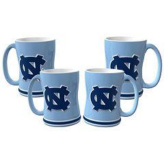 North Carolina Tar Heels 4 pkSculpted Relief Mug