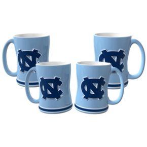North Carolina Tar Heels 4-pk. Sculpted Relief Mug