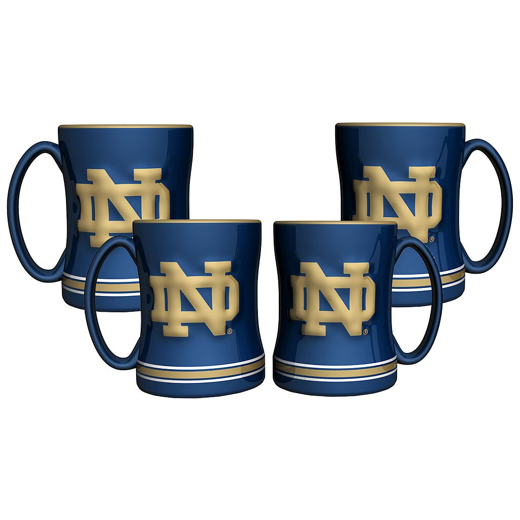 Notre Dame Fighting Irish 4-pk. Sculpted Relief Mug
