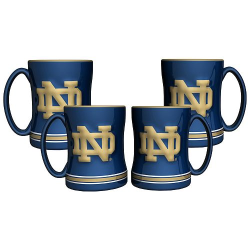 Notre Dame Fighting Irish 4-pk. Sculpted Relief Mug