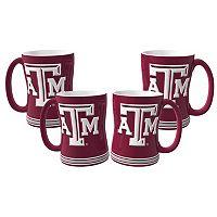 Texas A&M Aggies 4-pk. Sculpted Relief Mug