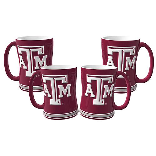 Texas A&M Aggies 4-pk. Sculpted Relief Mug