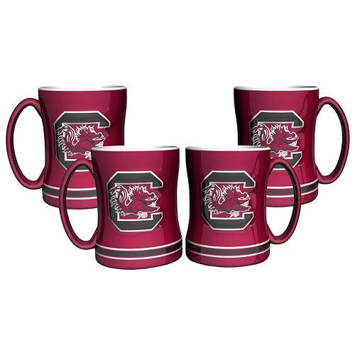 South Carolina Gamecocks 4-pk. Sculpted Relief Mug