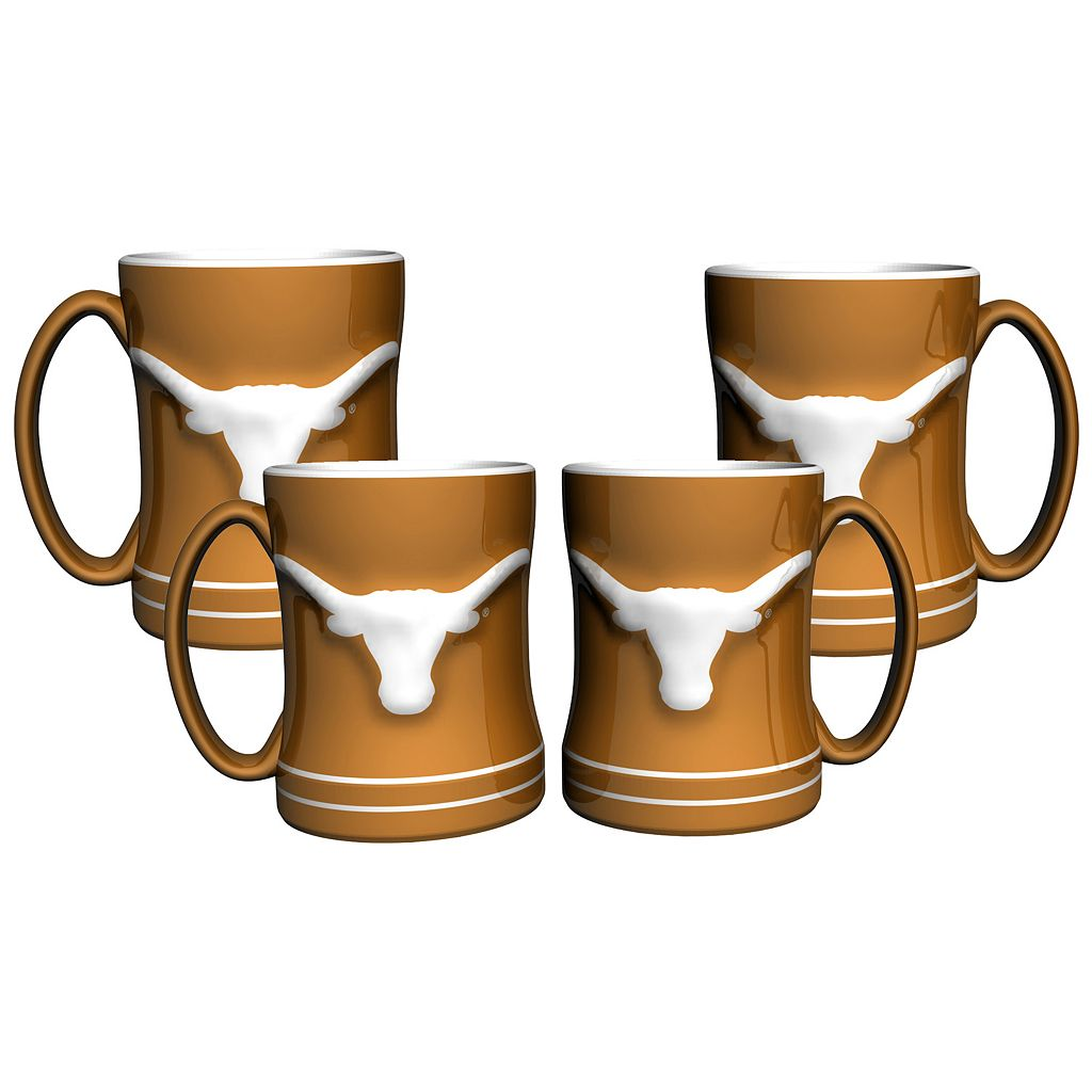 Texas Longhorns 4-pk. Sculpted Relief Mug