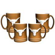 Texas Longhorns 4 pkSculpted Relief Mug