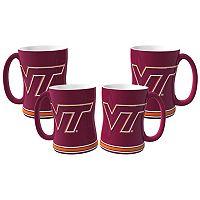 Virginia Tech Hokies 4 pkSculpted Relief Mug