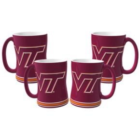 Virginia Tech Hokies 4-pk. Sculpted Relief Mug