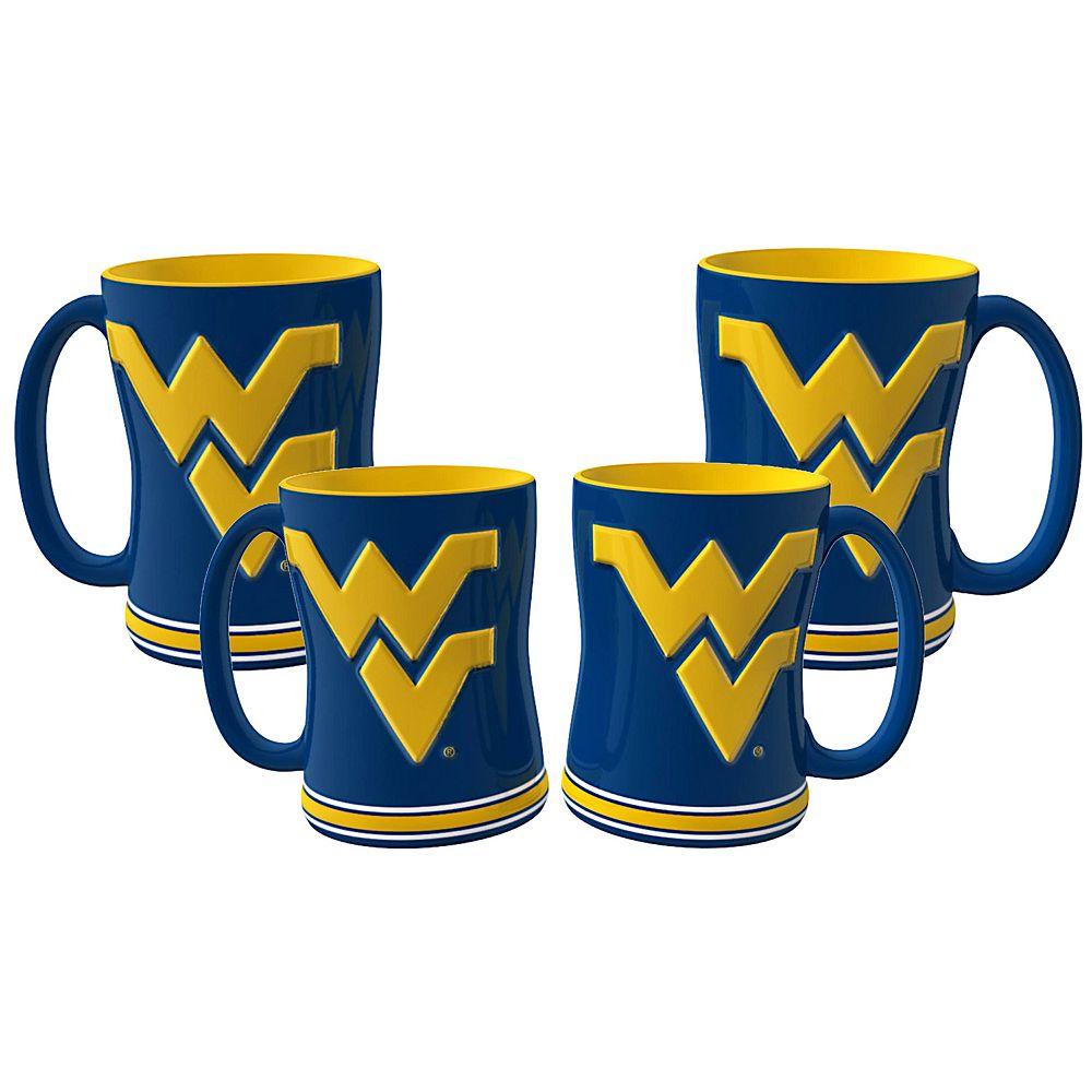 West Virginia Mountaineers 4-pk. Sculpted Relief Mug