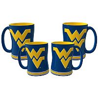 West Virginia Mountaineers 4-pk. Sculpted Relief Mug