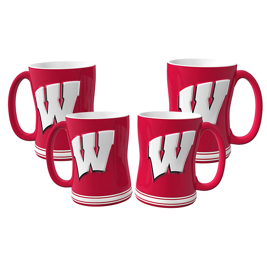 Wisconsin Badgers 4-pk. Sculpted Relief Mug