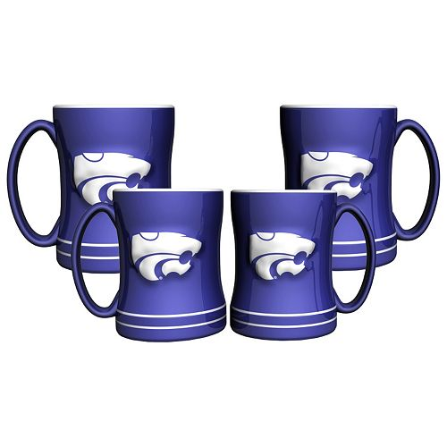Kansas State Wildcats 4-pk. Sculpted Relief Mug