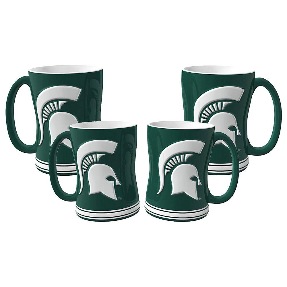 Michigan State Spartans 4-pk. Sculpted Relief Mug