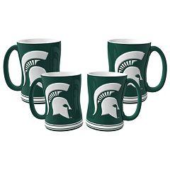 Michigan State Spartans 4 pkSculpted Relief Mug