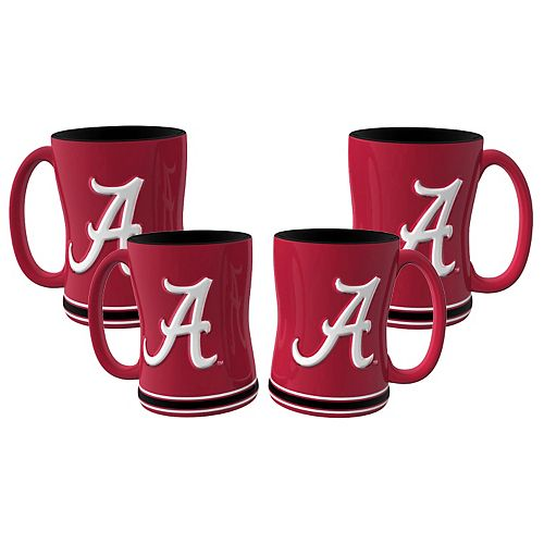 Alabama Crimson Tide 4-pk. Sculpted Relief Mug