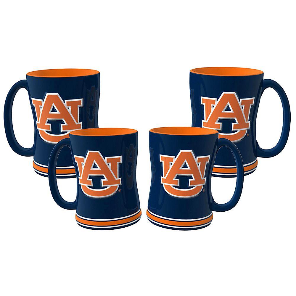 Auburn Tigers 4-pk. Sculpted Relief Mug