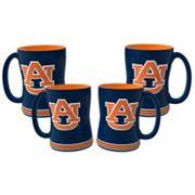 Auburn Tigers 4 pkSculpted Relief Mug