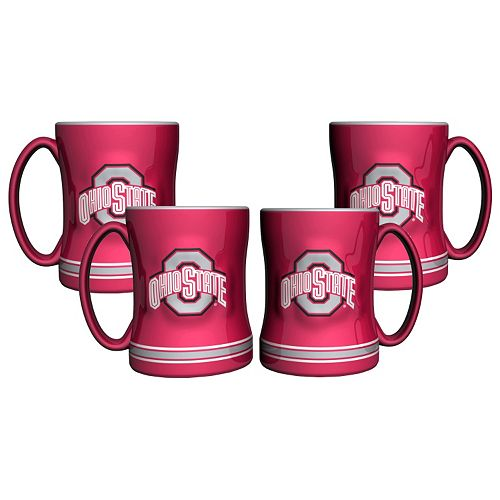 Ohio State Buckeyes 4-pk. Sculpted Relief Mug
