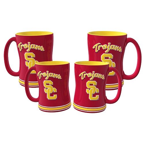 USC Trojans 4-pk. Sculpted Relief Mug