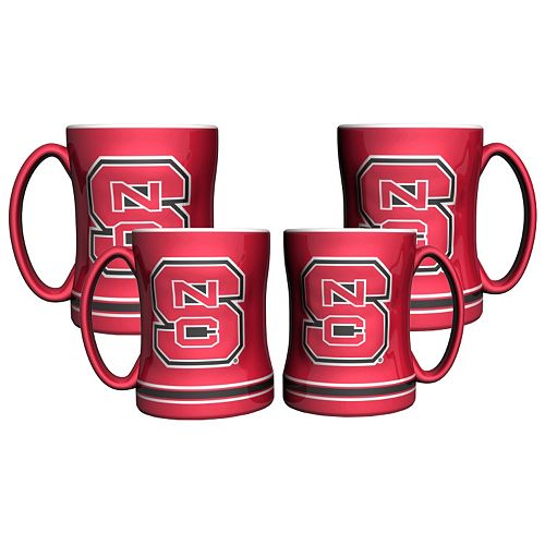 North Carolina State Wolfpack 4-pk. Sculpted Relief Mug