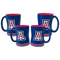 Arizona Wildcats 4-pk. Sculpted Relief Mug