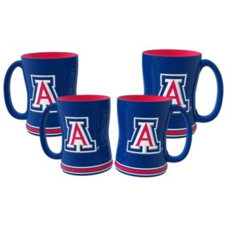 Arizona Wildcats 4-pk. Sculpted Relief Mug