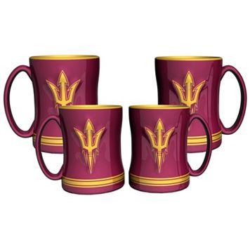 Arizona State Sun Devils 4-pk. Sculpted Relief Mug